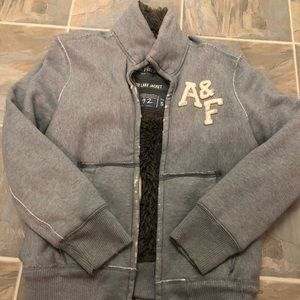 Men's Abercrombie faux fur lined track jacket
